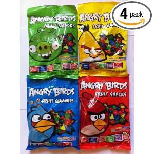 Angry Birds Fruit Gummies 12/5oz Combo (4 Colors):  Grocery