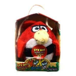 KooKoo Birds 2 Inch Flocked Mini Plush #112 Ruby Colored