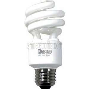 15W 2700K 10,000 Hour Energy Star Qualified Indoor Compact Fluorescent