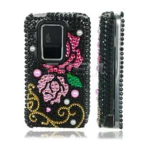 Ecell   PINK & RED ROSES 3D CRYSTAL BLING CASE FOR NOKIA