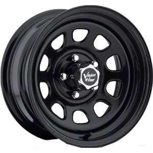 16x8 Vision D Window 5x127 5x5  12mm Matte Black Wheels