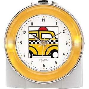 New York NY Yellow Taxi Cab Yellow Neonique Alarm Clock