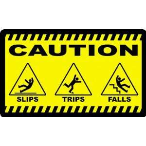 Caution Slip Trips and Falls Safety Anti Fatigue Mat Keep Safety Front