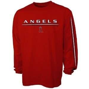 Adidas Anaheim Angels Red Team Vision Long Sleeve T shirt