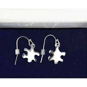 Autism Silver Puzzle Piece Earrings (18 Pairs): Everything