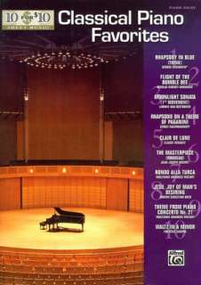 BARNES & NOBLE  10 for 10 Sheet Music Classical Piano Favorites