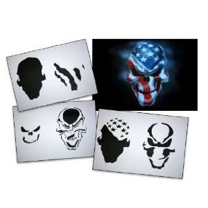 Step by Step Airbrush Stencil Template AS 062 M ca. 5,11