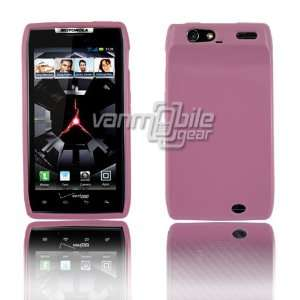 Motorola Droid RAZR Slim Fit TPU Skin Case Cover   Pink Premium 1 Pc