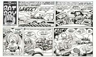 PETER BAGGE Batboy ORIGINAL STRIP ART Weekly World News