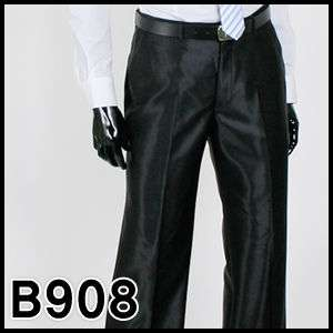JEJE Mens Shiny Black Slim fit Dress Pants Size US 28