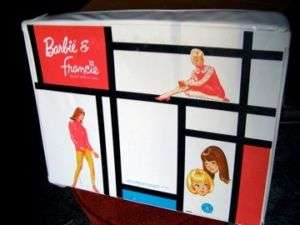 BARBIE & FRANCIE 1965 DOUBLE VINYL DOLL CASE MATTEL.