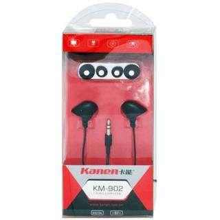 Black Kanen KM902 In ear Stereo Headphone Earphone