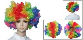 Ladies Funny Hair Dressing Curl Up Party Wig Colorful