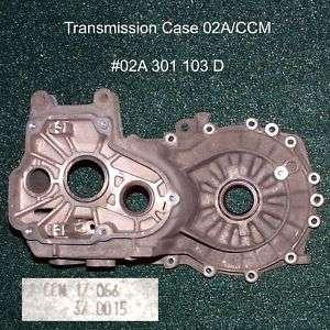 VW VR6 B3 B4 MK3 02A CCM Transmission Case 02A301103D