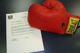 Rare Cassius Clay Signed Boxing Glove Muhammad Ali