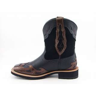 ARIAT Showbaby Square Toe Wing Tip Womens SZ 9.5 Black/Chocolate Boots