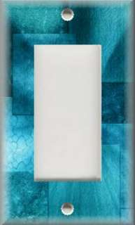 Light Switch Plate Cover   Wall Decor   Turquoise Blue Hues