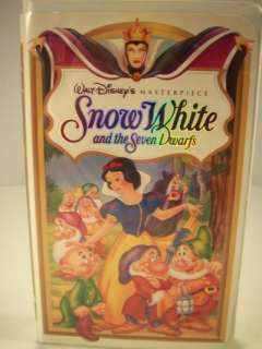 Walt Disney Snow White and the Seven Dwarfs VHS Tape 717951524034