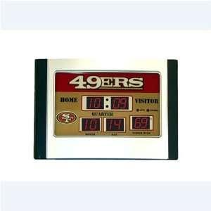 Team Sports San Francisco 49ers Scoreboard Desk Clock