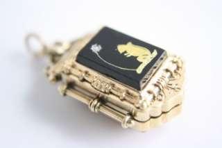 STUNNING Antique Victorian Gold Fill Carnelian & Onyx Photo Vintage