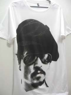 Johnny Depp Glasses Film Movie Icon Pop Rock T Shirt L