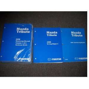 2008 Mazda Tribute Truck Service Shop Manual Set OEM (service manual 2