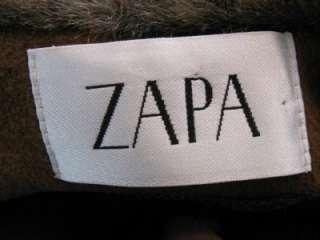 ZAPA BROWN WOOL SOFT ANGORA LADIES FAB FAUX CHINCHILLA FUR COLLAR