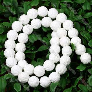 10mm White Coral MOP Shell Flower Carved Loose *Beads