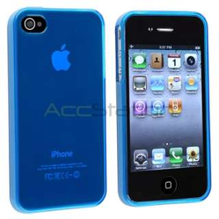 GEL CASE+CAR CHARGER+CABLE+PRIVACY FILM for iPhone 4 4S 4G 4GS G