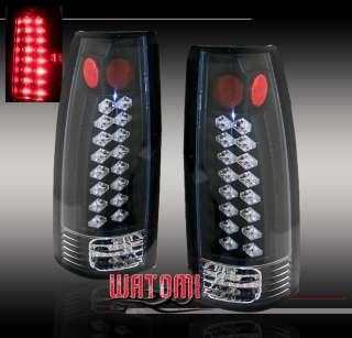 92 99 GMC SUBURBAN YUKON C10 TRUCK LED TAIL LIGHT BLACK
