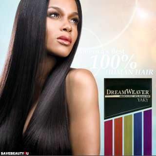 10, 12 Model Model Dream Weaver Yaki 100% COLOR Human Hair Yaky