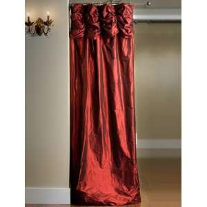 Ruched Valance Curtains Bold Red Bold Red Silk Home