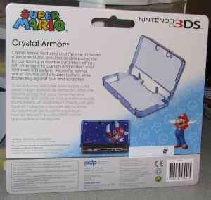 Nintendo 3DS Super Mario Crystal Armor Game Case Blue Brand New