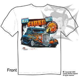 Size Medium, All Fired Up, 33 34 Ford Coupe, Hot Rod T