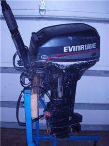 1996 EVINRUDE COMMERCIAL 15 HP OUTBOARD 15HP BOAT MOTOR FISHING NR