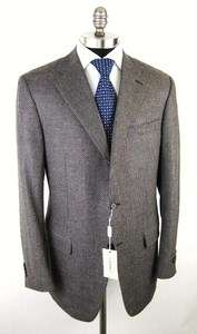 Wool & Cashmere Brown Sport Coat Jacket Blazer 46 46L NWT $1695