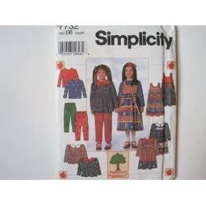 Simplicity Pattern 7732 Childs Dress or Tunic, Jumper, Pants, Knit