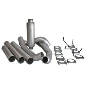 Bully Dog 82410 5 Aluminized Steel Turbo Back Single Exhaust Kit with