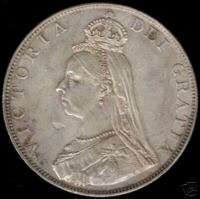 Great Britain silver Double Florin Victoria 1887 gEF