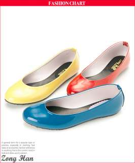 Vegan Patent Leather Elegant Flat Slip on Shoes Red Blue Yellow