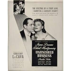 1941 Movie Ad Unfinished Business Irene Dunne La Cava