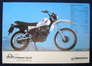 YAMAHA XT 550 MOTORCYCLE SALES BROCHURE (FRENCH).