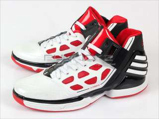Adizero Rose 2 White/Red/Black Basketball 2011 Mens Derrick G22888