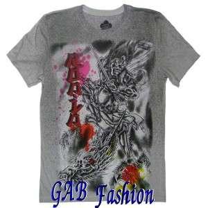 Samurai Warrior Sword Ink Tattoo Mens T Shirt Sizes XL/XXL