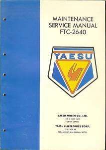 YAESU FTC 2640 MAINTENANCE SERVICE MANUAL