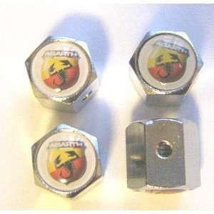 Fiat Abarth Anti theft Car Wheel Tire Valve Stem Caps