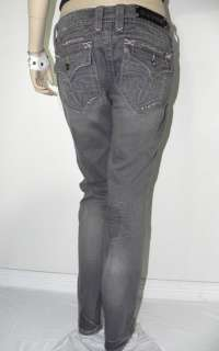 NEW WOMEN ROCK REVIVAL MISS ME CRYSTAL ♥ SKINNY JEANS * 31