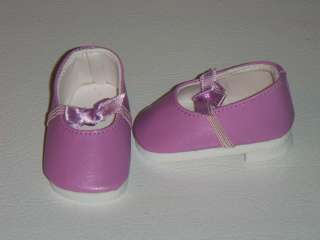 Doll Clothes Shoes Purple Heels Flats Bow Lavender 18 inch Fits