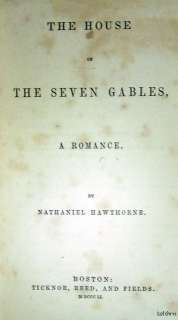 The House of the Seven Gables ~ Nathaniel Hawthorne ~ 1851 ~ Ships