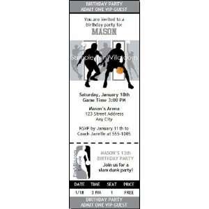 San Antonio Spurs Colored Ticket Invitation Sports
